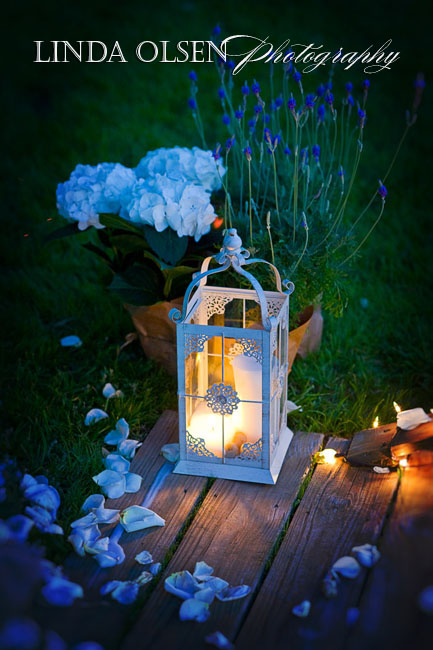 The little romantic touches make a lot of difference to wedding decor. Here by the dock walkover was a beautiful lantern and fresh flowers which glowed in the evening.