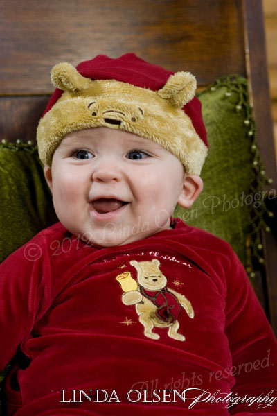 Six month old Ty actually didn't mind the cute little hats we dressed him in. What a trooper!