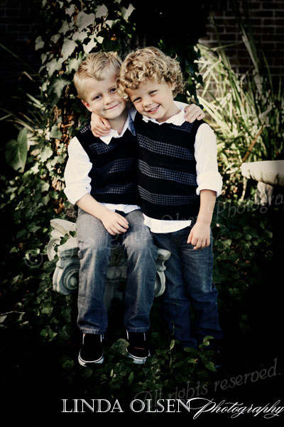 The two brothers were so darling together and actually great little models.