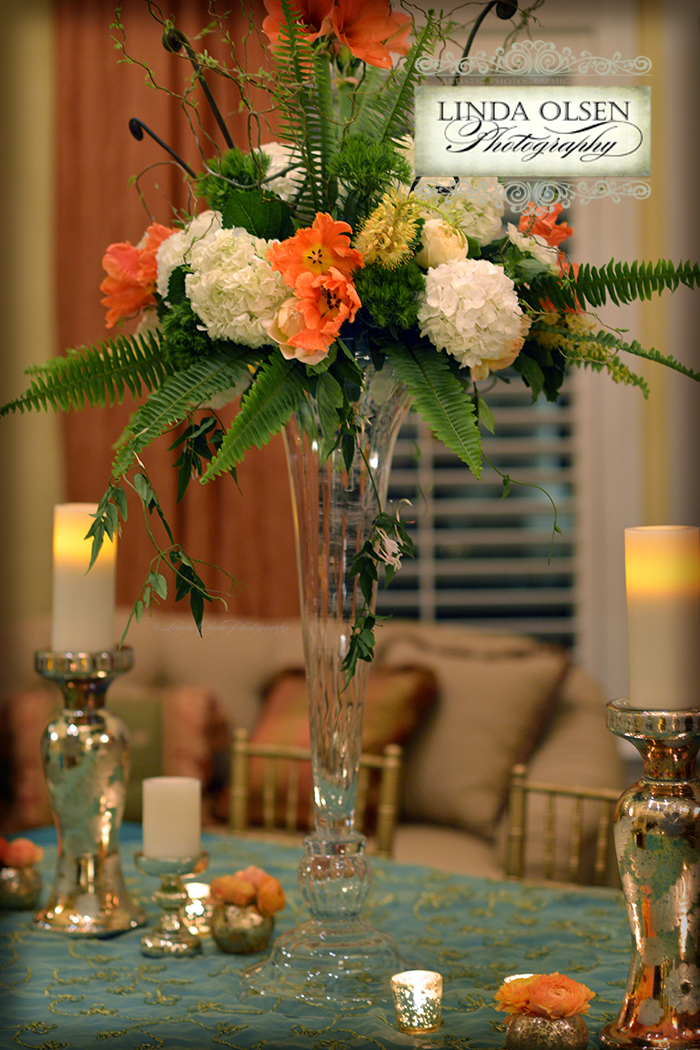 Fem Event Design did a fabulous job in creating this great decor for an elegant cocktail and dinner party with the St. Patrick's day theme. Liz Stewart did incredible floral displays and Ruth Chris provided amazing hors de Ouvres and buffet for the guests to dine on. They also had a DJ and open bars so everyone had a marvelous time. All the guests wore shades of green and my job was to take portraits of them as they arrived and later during the festivities. It was so much fun.