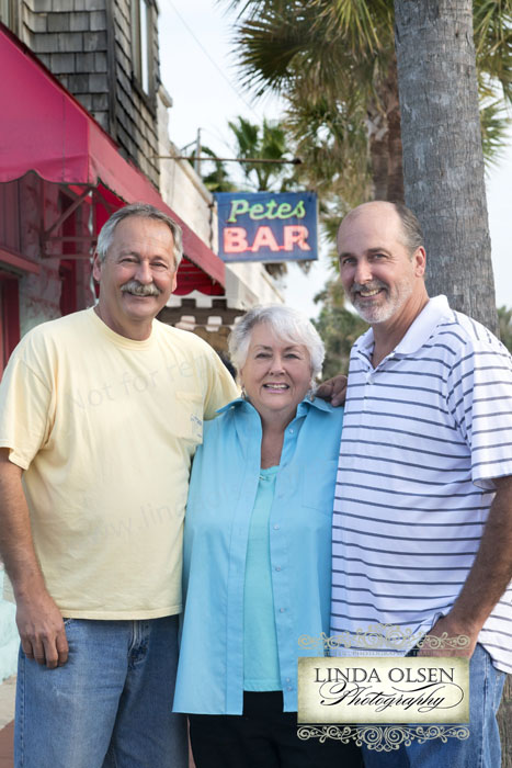 Here are the owners of Pete's bar: Nancy and her sons. It was fun to do these portraits.