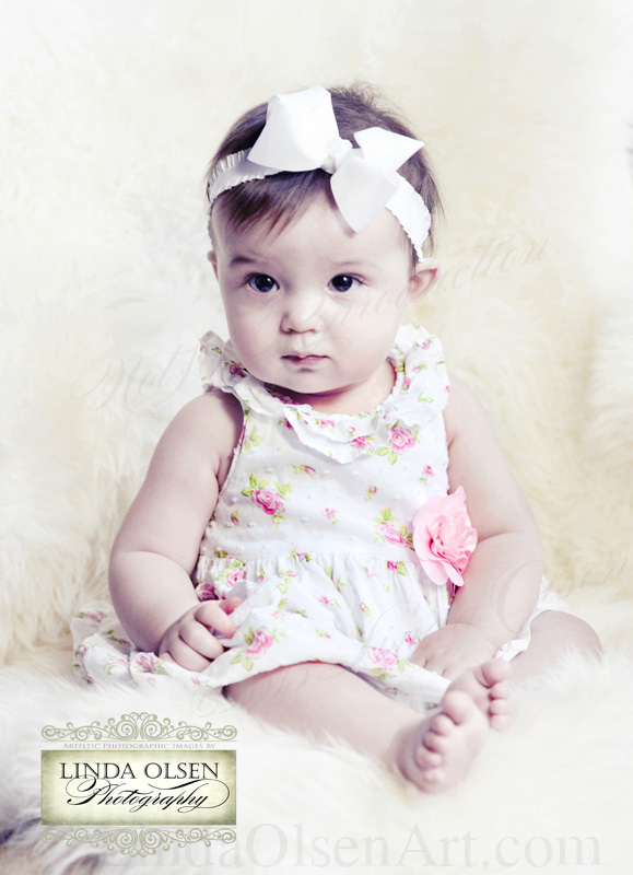 Don't you just want to pinch those darling cheeks? Madison was a great little model and never even attempted to fuss!