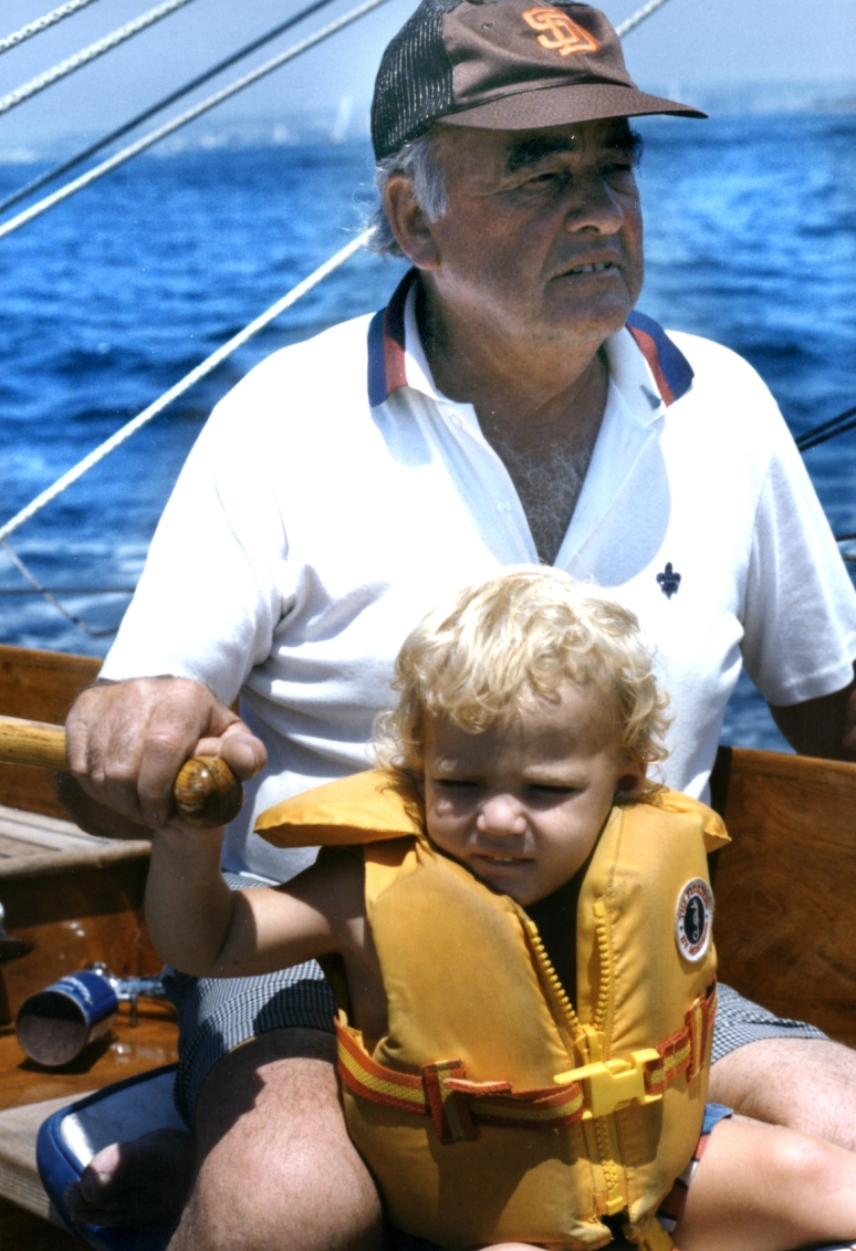 Its been a while since my brilliant and wonderful dad passed but I will still be thinking about him. He was so kind, friendly, concerned for the environment and nature, adventurous... and a successful industrial designer and inventor who raised his eight kids with a lot of patience. These two old photos are of dad with each of my two boys. We spent a lot of time sailing to Catalina Island and other islands off the coast of California growing up. I miss him a lot.