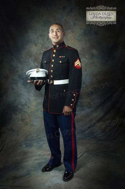 portrait of a marine in dress uniform linda olsens