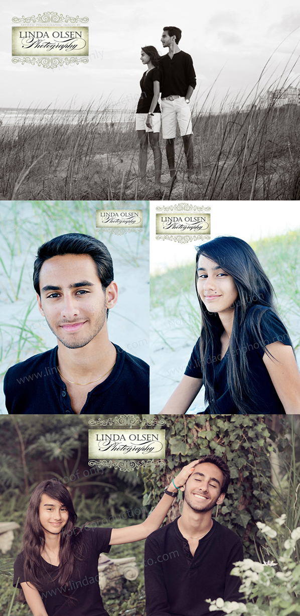 When I photograph a family, I always do different groupings and relationship interactive shots as well as individual portraits. With teenagers, sometimes posing siblings can be awkward .You just have to work with them for a bit to discover how much interaction they will tolerate and then make them comfortable. Fortunately, Soraya and Armand got along great.