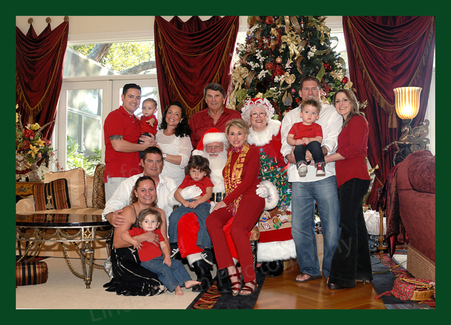 The Ingram family got together at Christmas with their 4 grandchildren and families and hired a wonderful Santa and Mrs. Claus. WIth little ones, it was a bit like herding puppies because toddlers are always on the move. It was really fun for everyone.