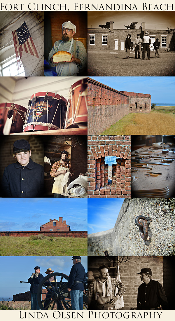 Nelson and I took the day off yesterday in the gorgeous Florida weather to visit Fort Clinch State Park in Fernandina Beach . They were hosting a Union army enactment weekend with the historical society dressing up, firing a canon and teaching the public all about life in the fort in 1865. They were making breads, and meats and talking about the living conditions and history of the fort. It was so interesting. I hadn't been there for nearly 28 years and the fort has really changed into a wonderful place to visit and learn about the history of the island.