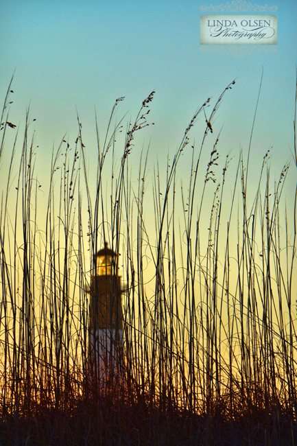 seaoats and lighthouse