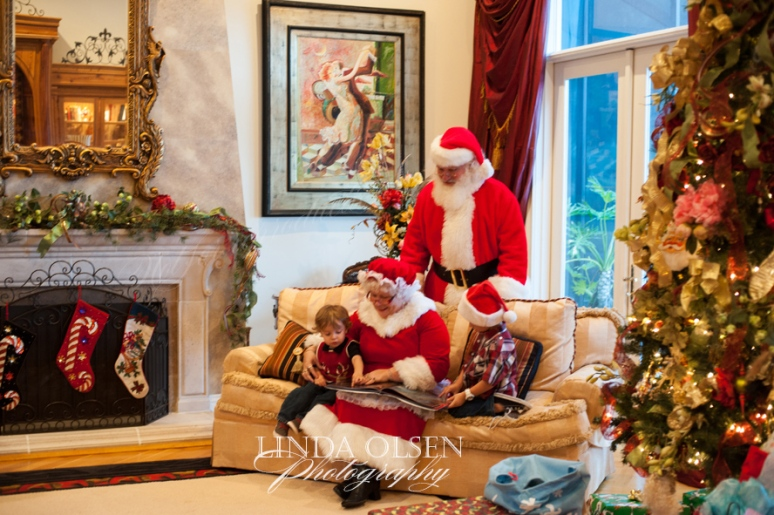 Mrs Claus reads to children
