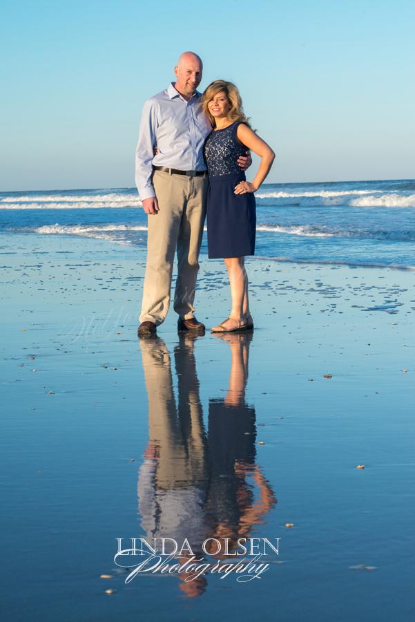 reflection at beach