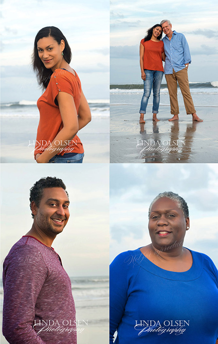 Shooting a portrait on the beach in the winter is so different because of the dunes and seaoats are so dried and brown. SO I concentrate on the water and the low tide reflections. The May families enjoyed putting their toes in the water and enjoying each others company