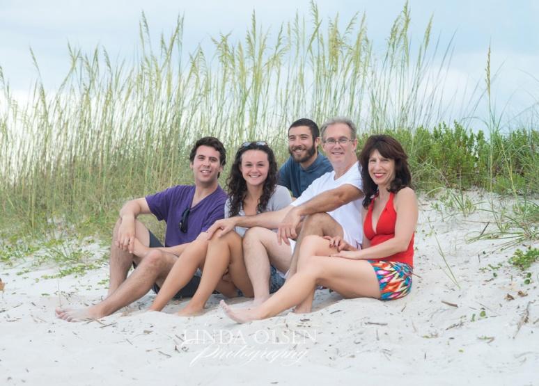 family in dunes