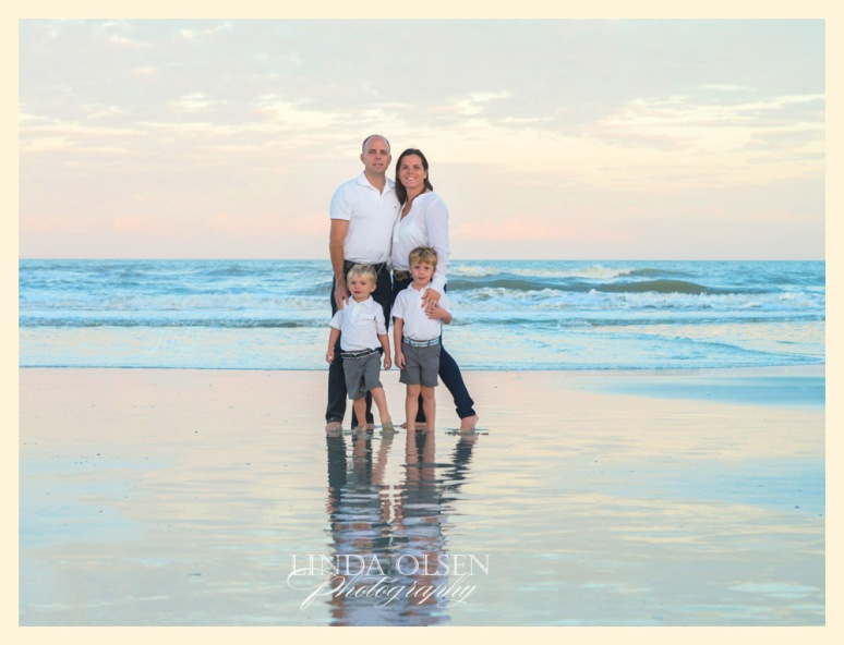 With the time change, I am having to start my beach portraits early like 4:30. The Hudson family have two adorable and very active toddlers who kept me running. We also tried to get their two old dogs in the photo at one location. I offer my clients a mix of images and do some specialty retouching, tinting and enhancing to my favorites.